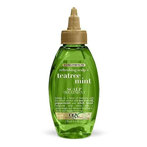 OGX Extra Strength Refreshing Scalp + Tea Tree Mint Scalp Treatment, 4 Ounce (Best Hot Oil Treatment For Dry Scalp)