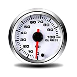 ZJP-Car Instruments Medidor de presión de Aceite de 52 mm 0~100 PSI con Sensor Medidor de presión de Aceite Medidor de Coche Dispositivo Sensor