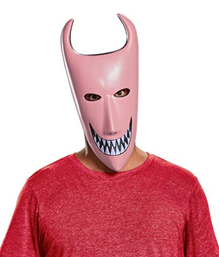 Disguise Men's Lock Adult Mask, Red, One