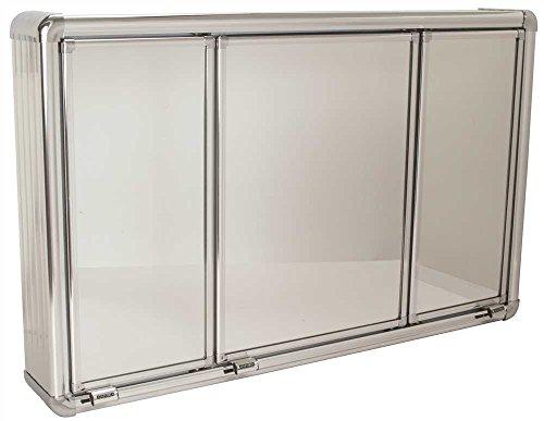 National Brand Alternative 592096 - Soporte de pared para clóset de medicina, 3 puertas, 71,12 x 10,16 x 43,18 cm,...