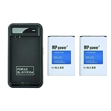 MP power ? 2 x Bateria 3000 mah + Cargador EU Para LG G4 g4 ...