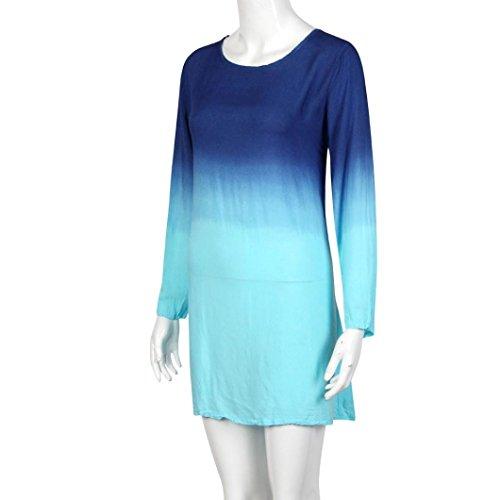 Vestidos Mujer, Culater Jumpsuit Color de degradado Cielo Azul