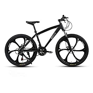 Cloth-YG Adult 24 Inch Mountain Bike, Beach Snowmobile Bicycle, Double Disc Brake Bicycles, Aluminum Alloy Wheels, Man Woman General Purpose
