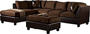 Zikra L Shape Five Seater Sofa (Chocolate)