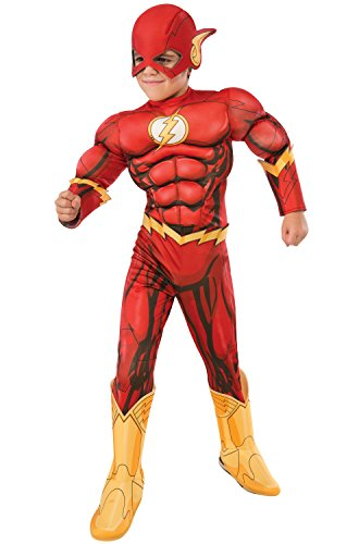 Rubie's Costume DC Superheroes Flash Deluxe Child Costume, Medium