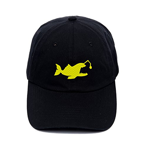Street Dance Caps Angry Angler Fish Embroidered Rap Hat