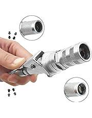 Adminitto88 Acoplamiento G Acoplador G para Pistola De Engrase para Engrasadores Cónicos: Fácil De Poner Y Quitar, Permanece Abierto, La Lubricación Entra, No En La Máquina