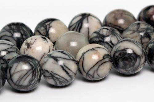 8mm Natural Black White Swirl Zebra Jasper Beads Round Loose Beads 15.5'' Crafting Key Chain Bracelet Necklace Jewelry Accessories Pendants