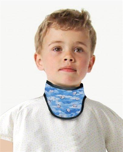 Regular Lead X-Ray Thyroid Collar, Pediatric Size, 0.5mm Pb, Hook & Loop Closure, Amethyst (Apron Thyroid Lead)