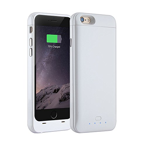 Battery Case for iPhone 6/6s Plus [Apple MFi Certified] - 150% Extra Battery Lightweight Rechargeable Case for iPhone 6/6s Plus