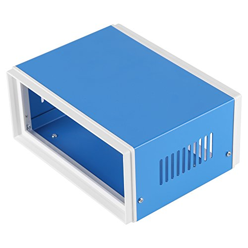 Junction Box, Asixx 170 * 130 * 80mm Blue Metal Enclosure Project Case DIY Junction Box for Control Box, Cabinet, Distribution Instrument Box, Electronic Product Shell, etc