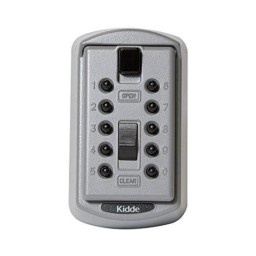 Kidde AccessPoint 001170 KeySafe Original Slimline Push Button Combination Permanent Key Lock Box, 2-Key, Titanium Gray (Renewed)