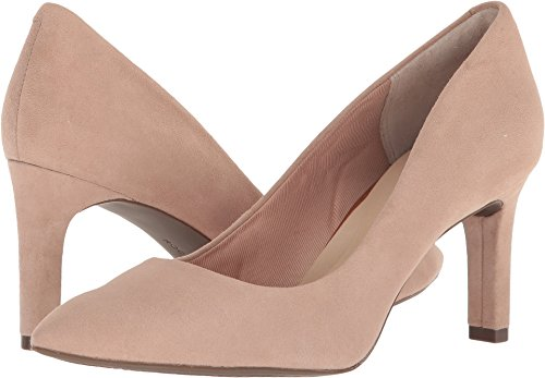 Rockport Womens Total Motion Valerie Luxe Pump Blush Suede 8 W (C)