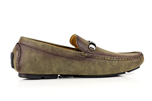 Slip Marca Kaki JAS Mocassini Uomo On Mocassini Conduttore Casual Fashion Ganasce 5afvaS