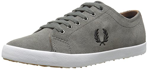 Fred Perry Men's Kingston Suede Fashion Sneaker, Mid Grey, 6 UK/7 M US