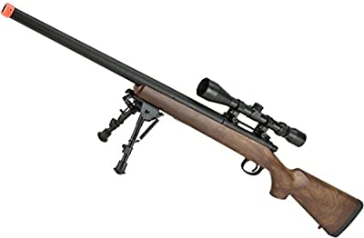 Evike - CYMA VSR-10 Bolt Action Airsoft Sniper Rifle w/ Scope Rail (400~450 FPS) - (Wood/Polymer Options