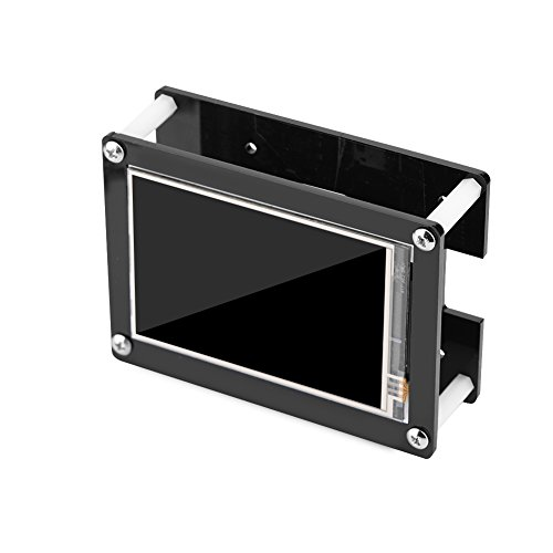 3.5 Lcd (Fosa 1080P IPS 60fps 3.5 inch HDMI LCD Screen Display for Raspberry Pi + Black Acrylic Case)