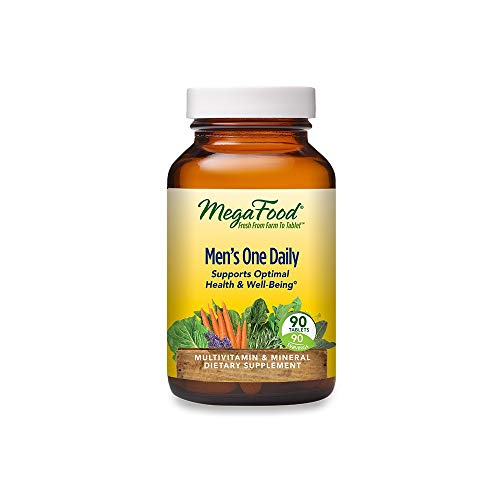 MegaFood Men's One Daily – Men's Multivitamin for Optimal Health and Well-Being – With B Complex Vitamins – Gluten Free…