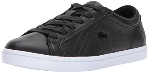 Lacoste Womens Straightset Lace 417 1 Sneakers Black