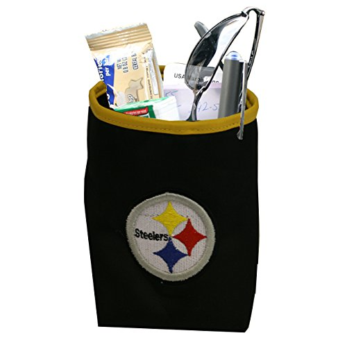 (NFL Pittsburgh Steelers Logo Car Pocket Organizer - Hangs from Car Vent)
