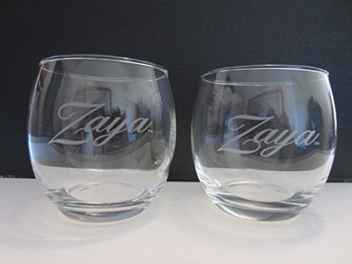 Set of 4 Zaya Gran Reserva 12 Year Rum Round Lowball Rocks Glasses - Zaya Gran Reserva