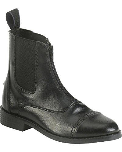 Barn Zip Boot - Equistar - Ladies' Zip Paddock Boot (All Weather) (Ladies 8/Black) 8 Black