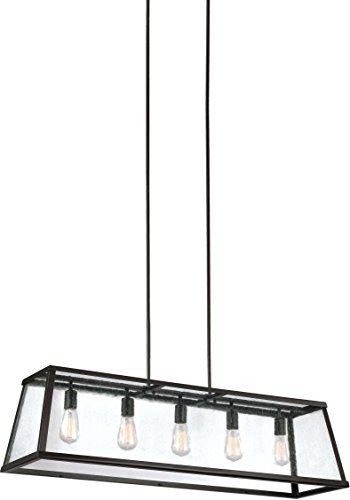 Murray Feiss Fans - Feiss F3073/5ORB Harrow Island Chandelier Lighting with Glass Shades, Bronze, 5-Light (44