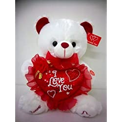 """Musical """"I Love You"""" Teddy Bear15 Inches tall You hear Kissing Sound & then Bear Says I Love You When Paw Is Pressed Best gift for Valentine day , mother's Day or Birthday Gifts"""