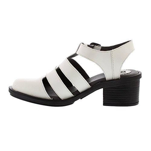 Cahy White Off leather London Rug Womens Fly Heels wPzq5t5