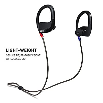 ADVANCED Evo X Hi-Fi Beryllium Driver Sports In-Ear Wireless Earphones Bluetooth Headphones Sweatproof IPX4 Secure-fit Gym Earbuds for Workout with Mic