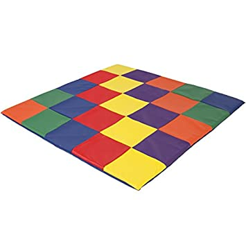 Best Choice Products 58x58in Foam Cushioned Activity Floor Mat for Toddlers and Kids, Indoor and Outdoor Play Areas w 2-Inch Cushion, Colorful Tiles