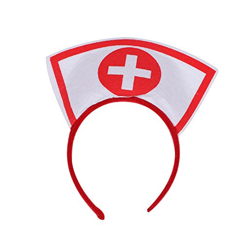VESSOS Home Halloween Costume Nurse Hat Headband Headgear Cosplay Hairband Cap Cool 2017! Party DIY Decoration]()