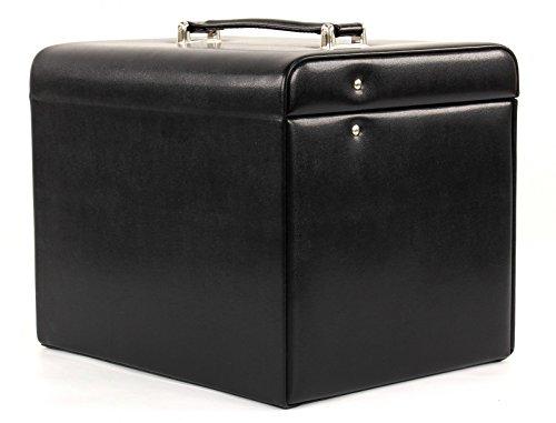 Windrose Merino Schmuckkoffer mit integrierter Schmucktasche 8 schwarz - 7