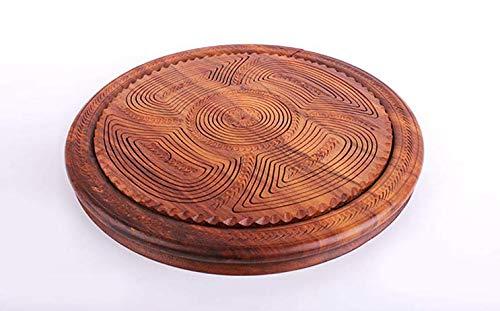 ZZSIccc Fruit plate fruit basket solid wood folding wood carving apple fruit plate basket practical wood dried fruit basket for $<!--$88.00-->