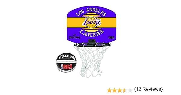 Spalding NBA Team - Mini juego de baloncesto L.A Lakers Talla:Once ...