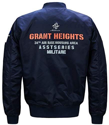 Side Jackets Pockets Outdoor Jacket Clothing 1 blue Long Men's Jacket Moda Sleeve Down Outerwear Outerwear Zipper ICwnxXBqv