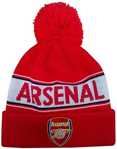 Arsenal F.c Text Cuff Knitted Hat