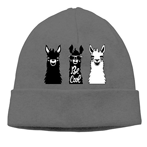 Cute Llama Knit Winter Aduilts Beanie Hat Skull Beanie Cap For Men Women