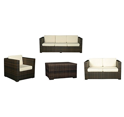 konway n singer rattan sitzgruppe florida garten lounge sofa sessel tisch gartenm bel. Black Bedroom Furniture Sets. Home Design Ideas