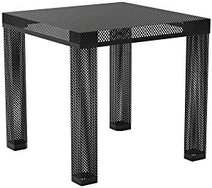 Novogratz Iconic Modern Metal End Table, Black