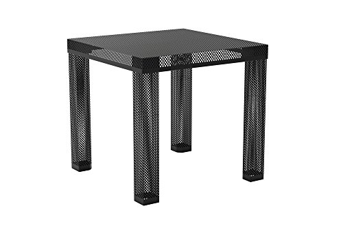 Novogratz Iconic Modern Metal End Table, Black Review