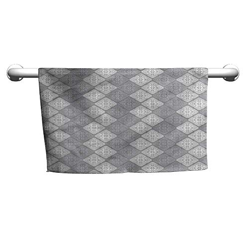 (flybeek Towel Damask,Victorian Oriental Retro,Suction Towel bar for Shower)