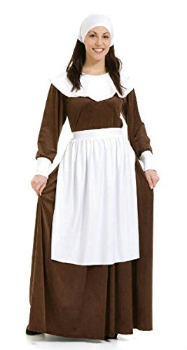 Pilgrim Woman Costume (As Shown;Large) -