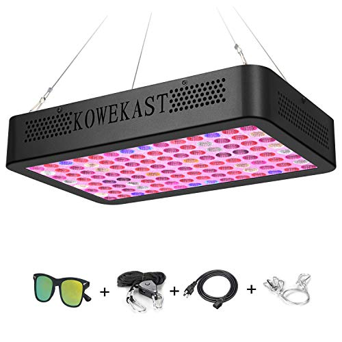 2019 newest1200w LED Grow Light – Full Spectrum LED Grow Lamp with UV and IR Plant Grow Light for Indoor Plants Veg and Flower by KOWEKSAT