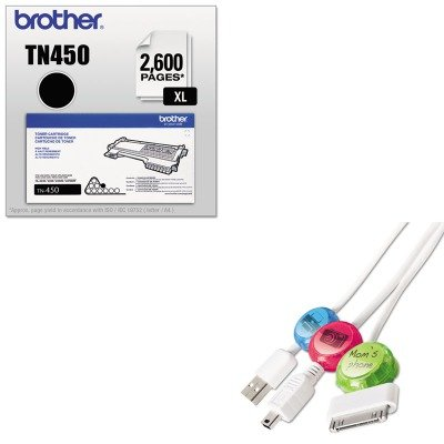 KITBRTTN450PRBDCI101COCB - Value Kit - Paris Business Products Dotz Cord Identifier (PRBDCI101COCB) and Brother TN450 TN-450 High-Yield Toner (BRTTN450)