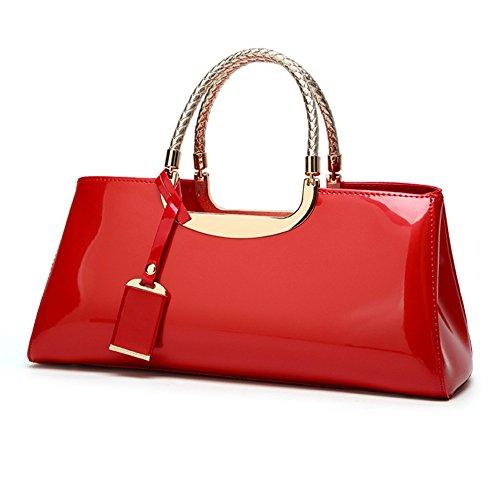 Gran para Bandolera Bolso pequeño PU Bolso Dama Capacidad luz Chlyuan Rojo con de de de para de la de Lentejuelas Capacidad Mujer Tote Espejo de Gran Gel gw5q5d4a6