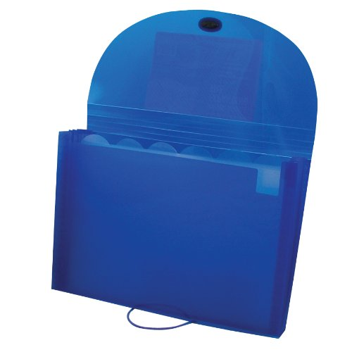 C-Line Biodegradable 7-Pocket Expanding File, Letter Size, 1 Expanding File, Blue (48305)
