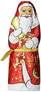Lindt Holiday Milk Chocolate Santa, Hollow, 4.4 Ounce (Pack of 18)