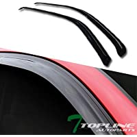 Topline Autopart Smoke Window Visors Deflector Vent Shade...