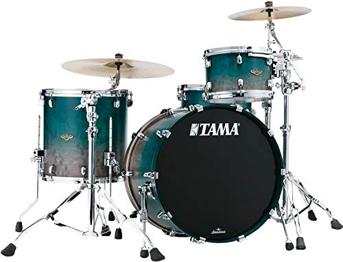 Tama Starclassic Walnut/Birch Lacquer 3-piece Shell Pack - Satin Sapphire Fade